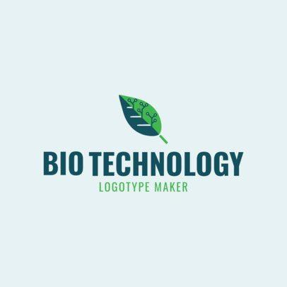 Custom Logo Maker for Biotechnology Company with Tech Icons 1172e