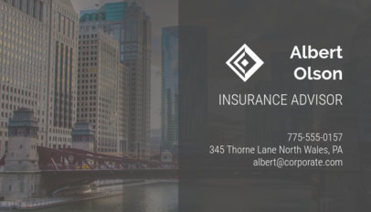 Business Card Maker for Insurance Advisors 148a