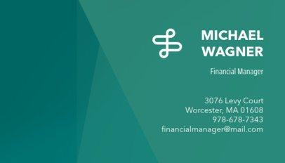 Business Card Maker for Financial Businesses 148e