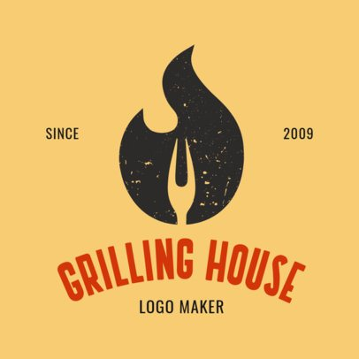 Online Logo Maker for a Grill Restaurant 1171c