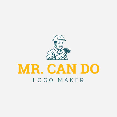 Handyman Logo Maker with Avatar Icon 1175c