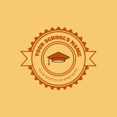 Online Logo Maker for a School - Yellow Theme 1088b