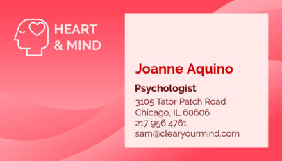 Psychologist Business Card Maker 193a