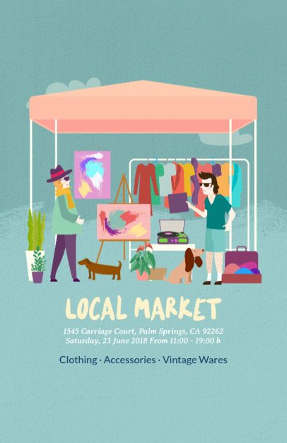 Flyer Template for a Local Market 200b