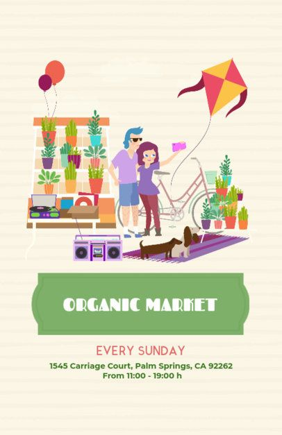 Online Flyer Maker for a Farmers Market 200c