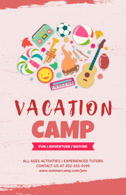 placeit flyer design template for summer camp flyers
