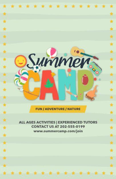 Summer Camp Online Flyer Maker 196b