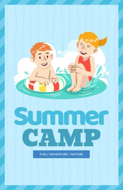 Online Flyer Maker for Kids Summer Camp 196c