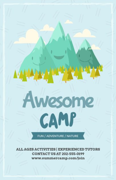 Camping Online Flyer Maker 196d