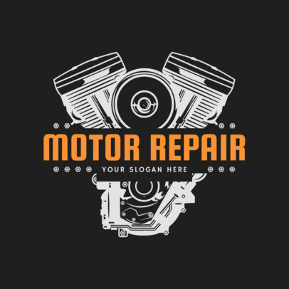Mechanic Logo Maker with for a Motor Repair Shop 1165a