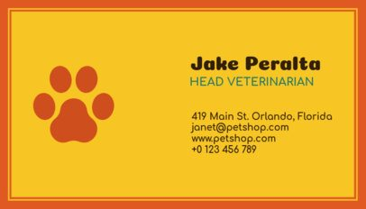 Business Card Maker with Paw Print Graphics 187a