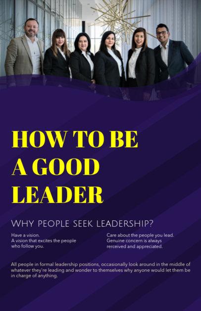 Online Flyer Maker for a Leadership Course 149b