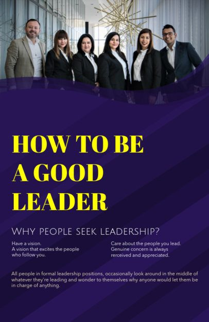 Online Flyer Maker for a Leadership Course 149b