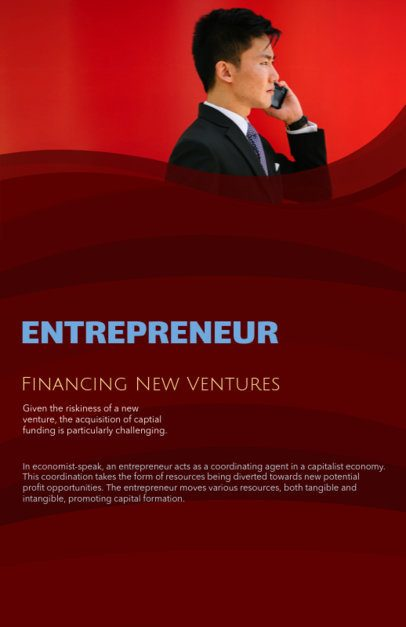 Online Flyer Maker for an Entrepreneurship Course 149c