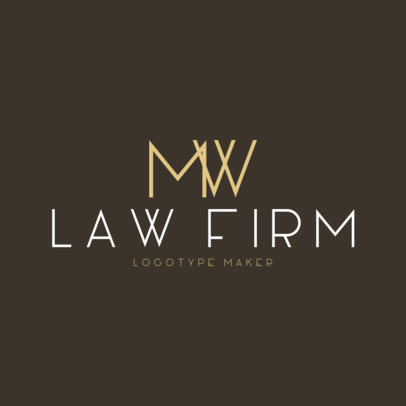 Law Firm Logo Maker for Monogram Logos 1096a