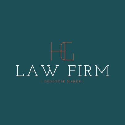 Legal Services Logo Maker for Monograms 1096e