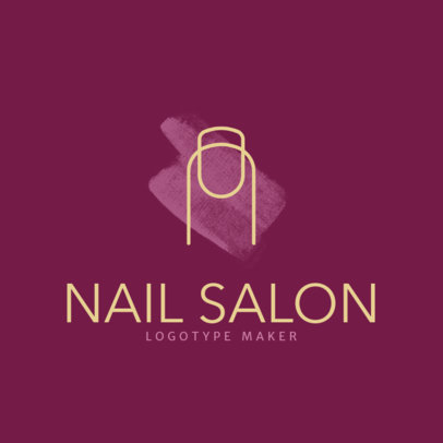 Nail Salon Logo Maker with Minimalistic Design 1163a