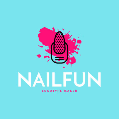 Custom Logo Maker for Nail Artists with a Color Splash 1163c