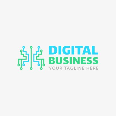 Digital Business Logo Maker 1140a