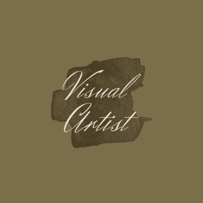 Monochromatic Logo Template for Visual Artists 1187b