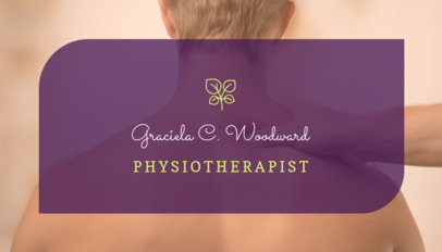 Physiotherapist Business Card Maker 195b