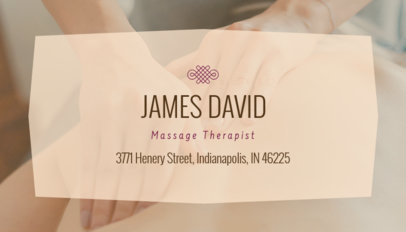 Licensed Massage Therapist Business Card Maker 195c