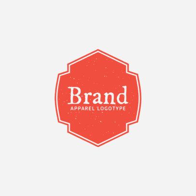Clothing Brand Logo Maker Minimalistic Design 1053b