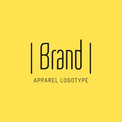 Online Logo Maker for an Apparel Brand with Minimalistic Graphics 1053d