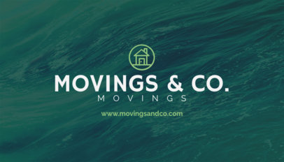 Business Card Maker for Moving Services with Textured Backgrounds 202c