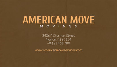 Business Card Template for Moving Services with Houses Icons 202d
