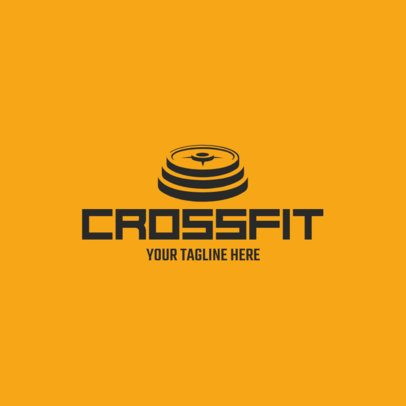 Online Logo Maker for a Crossfit Gym with Weights Icon 1080e