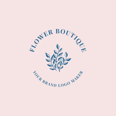 Flower Store Logo Maker 1145d