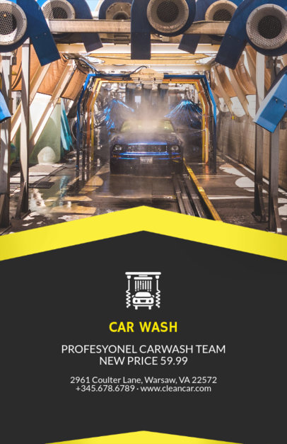 Flyer Maker for Car Wash Business with Car Wash Images 188d