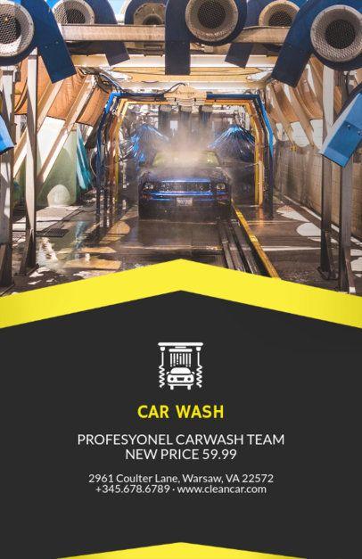 Flyer Maker for Car Wash Business with Car Wash Images 188d