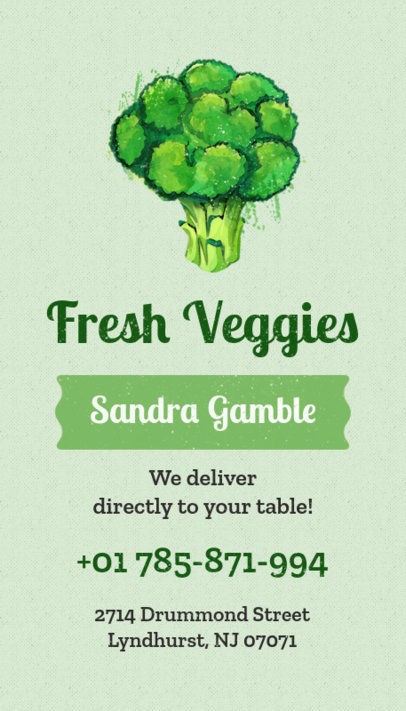 Business Card Maker for Fresh Food Delivery 199a
