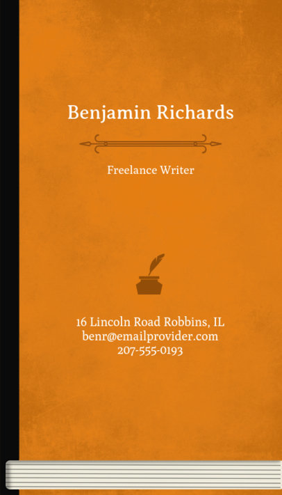 Typewriter Business Card Maker 205e