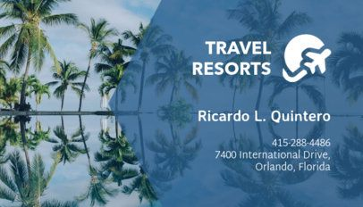 Online Business Card Maker for Adult Resorts with Vacation Icons 197d