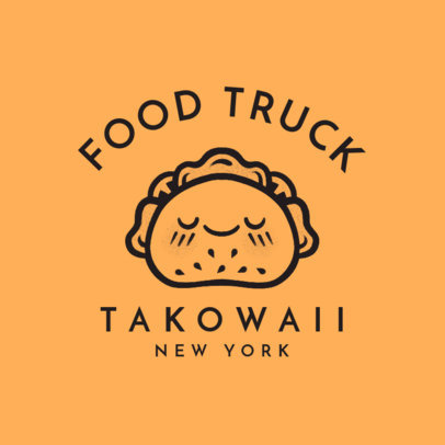Food Truck Logo Maker with Food Icons 1213