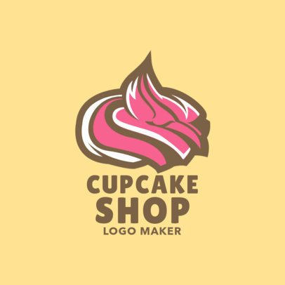 Online Logo Maker with Cupcake Icons 1131d