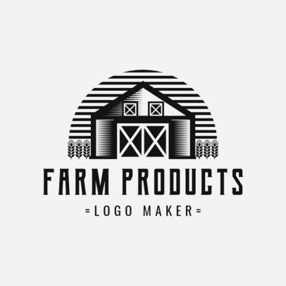 Online Logo Maker for Farm Products with Barn Icon 1126d