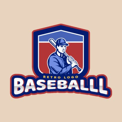 Logo Maker for a Baseball Team with Player Graphic 172b