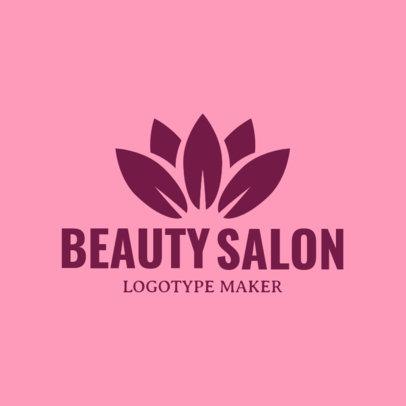 Beauty Salon Logo Maker with Lotus Flower Clipart 1137d