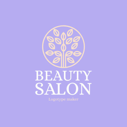 Beauty Salon Logo Maker with Tree Icon 1137e