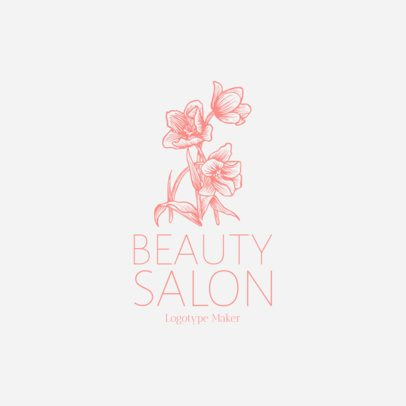 Beauty Salon Logo Maker with Flower Icon 1137f