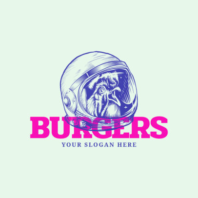 Logo Maker for a Burger Restaurant with Line Art 973a