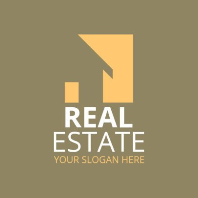 Simple Real Estate Logo Maker 969a