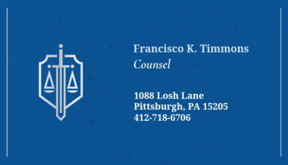 Business Card Maker for Legal Advisors 87a