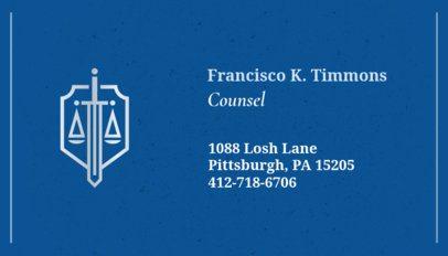 Business Card Maker for Legal Advisors 87a