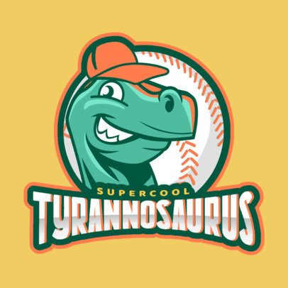 Baseball Logo Maker with Dinosaur Clipart 172d
