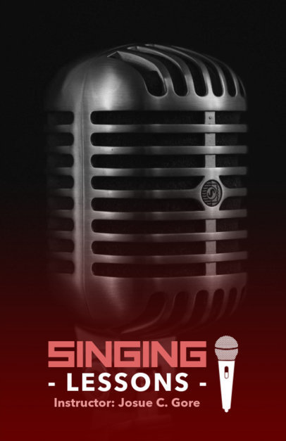 Singing Lessons Online Flyer Maker for Instructors 157a